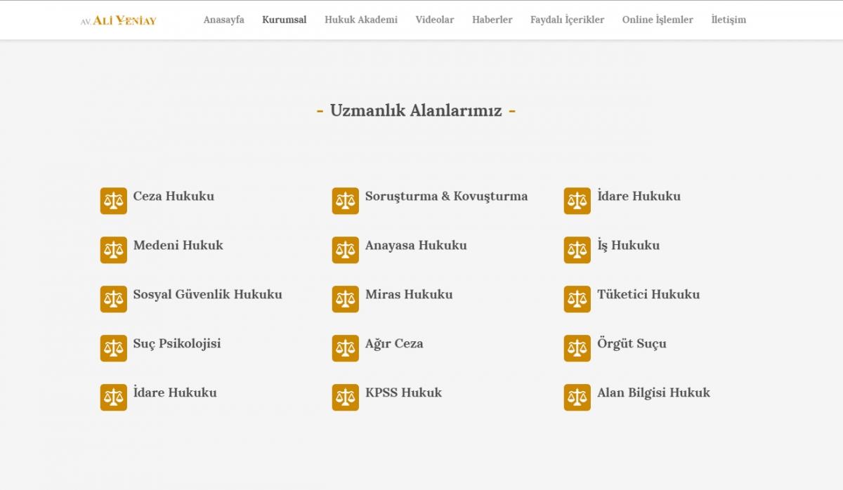Av. Ali Yeniay Website with Control Panel - Web Design