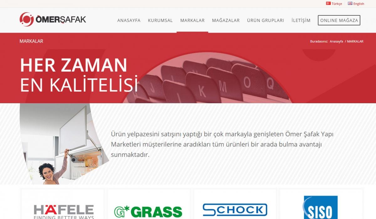 Ömer Şafak Yapı Market Corporate Web Site Design - Web Design