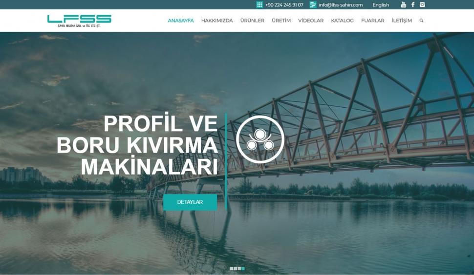 LFSS Şahin Makina Kurumsal Web Sitesi - Web Tasarımı