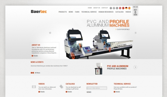 Baertec Makine Website With Admin Panel - Web Design