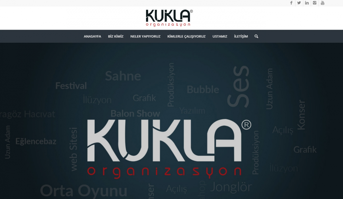 Kukla Organizasyon Website with Control Panel - Web Design