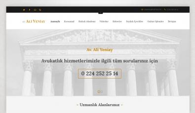 Av. Ali Yeniay Kontrol Panelli Web Sitesi - Web Tasarımı