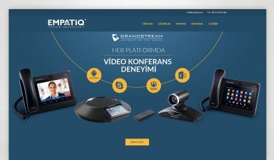 Empatiq Telekom Kontrol Panelli Web Sitesi - Web Tasarımı