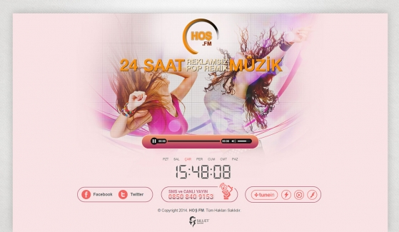 Hoş FM Static Website - Web Design