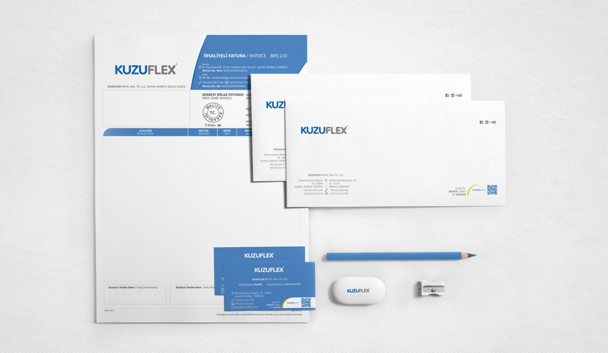 Kuzuflex Metal Hose Brandbook - Graphic Design