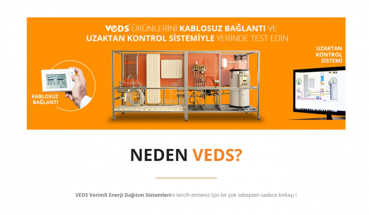 Veds Enerji Dağıtım Sistemleri Website with Admin Panel - Web Design