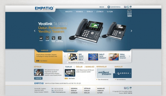 Empatiq Telekom Website With Admin Panel - Web Design