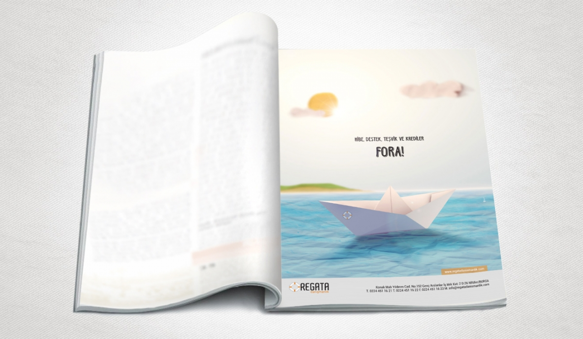Regata Danışmanlık Magazine Ad Design - Graphic Design
