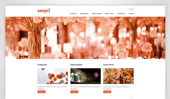 Zuhuri Organizasyon Kontrol Panelli Web Sitesi - Web Tasarımı