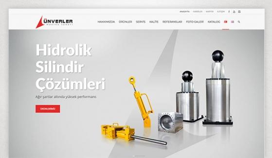 Ünverler Makina Kurumsal Web Sitesi - Web Tasarımı