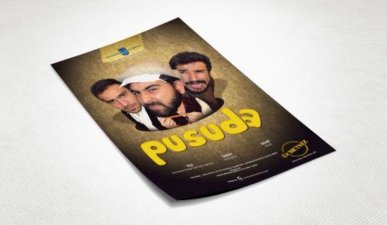 Ankara Büyükşehir Belediyesi Pusuda Tiyatro Afişi - Grafik Tasarım