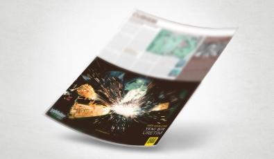 Şahinler Metal Dergi Reklam Tasarımı - Grafik Tasarım