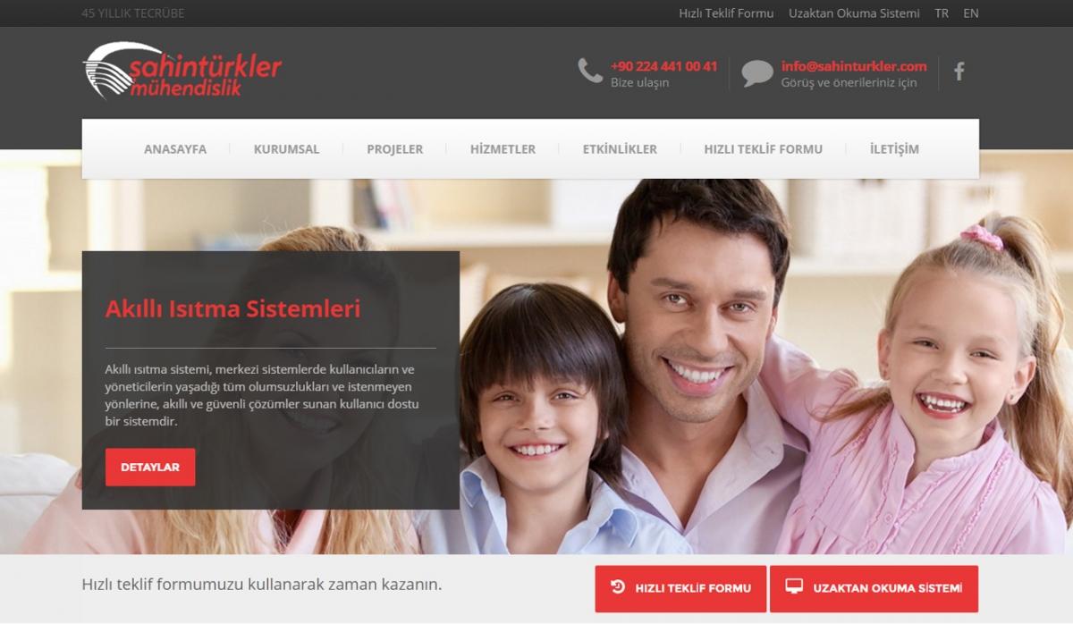 Şahintürkler Mühendislik Website with Admin Panel - Web Design
