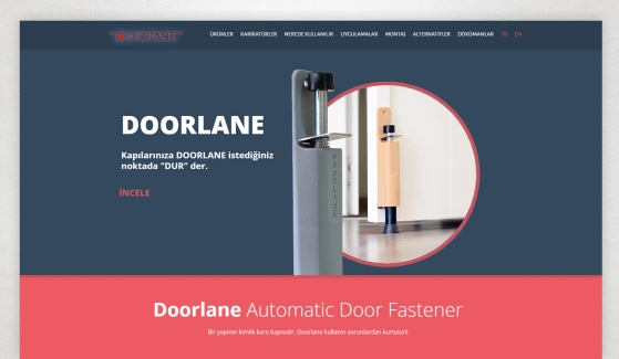 Doorlane Website with Admin Panel - Web Design