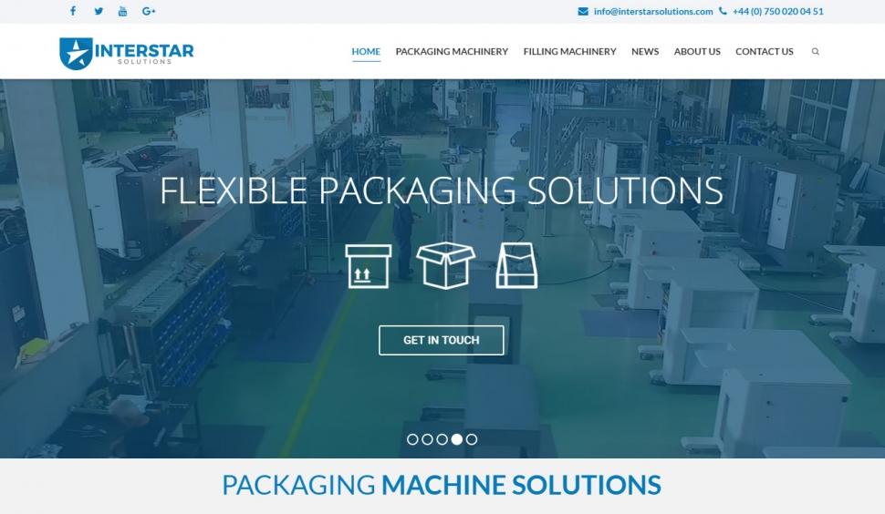 Interstar Solutions Web Sitesi Tasarımı - Web Tasarımı