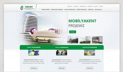 Emsan Mühendislik Kontrol Panelli Web Sitesi - Web Tasarımı