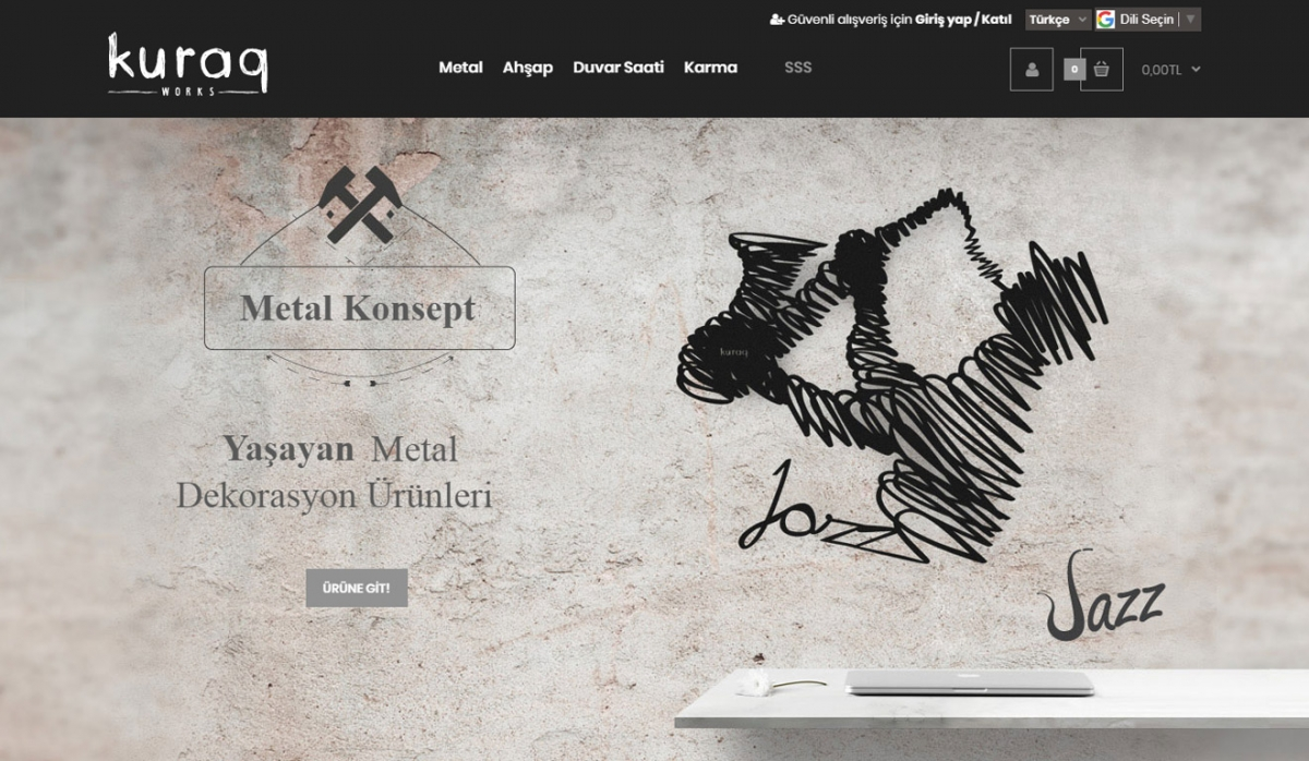 Kuraq Works E-Commerce Site - Web Design