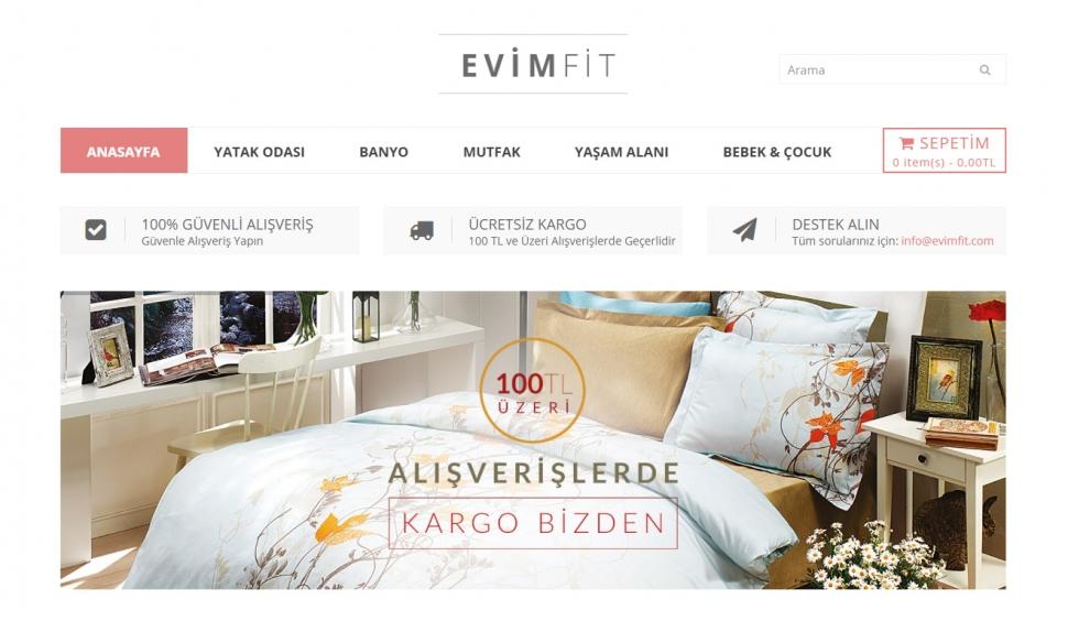 Evimfit Tekstil E-Ticaret Sitesi - Web Tasarımı