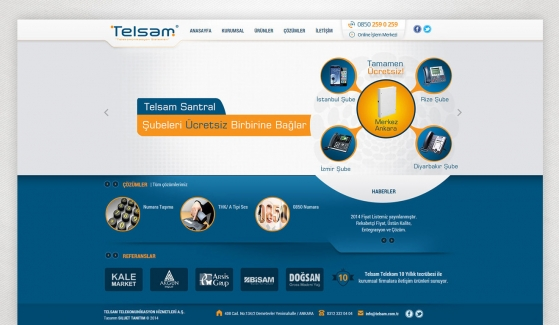 Telsam Telekomunikasyon Website With Admin Panel - Web Design