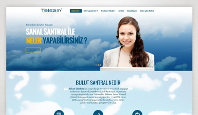 Telsam Bulut Static Website - Web Tasarımı
