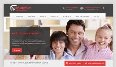 Şahintürkler Mühendislik Kontrol Panelli Web Sitesi - Web Tasarımı