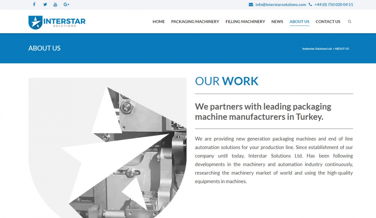Interstar Solutions Web Site Design - Web Design