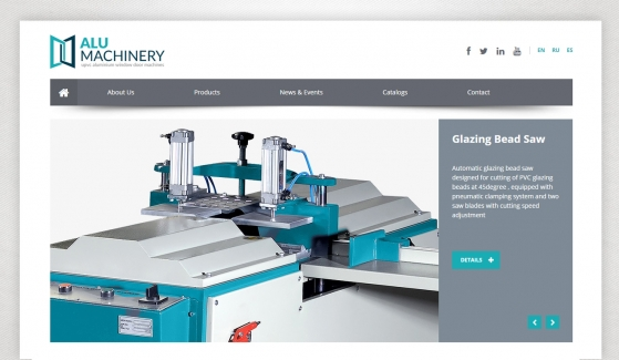 Alu Machinery Website With Admin Panel - Web Design