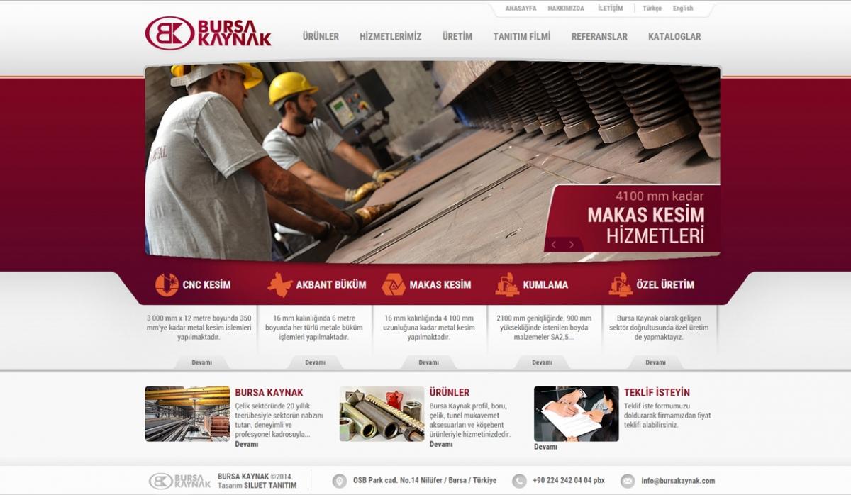 Bursa Kaynak Static Website - Web Design