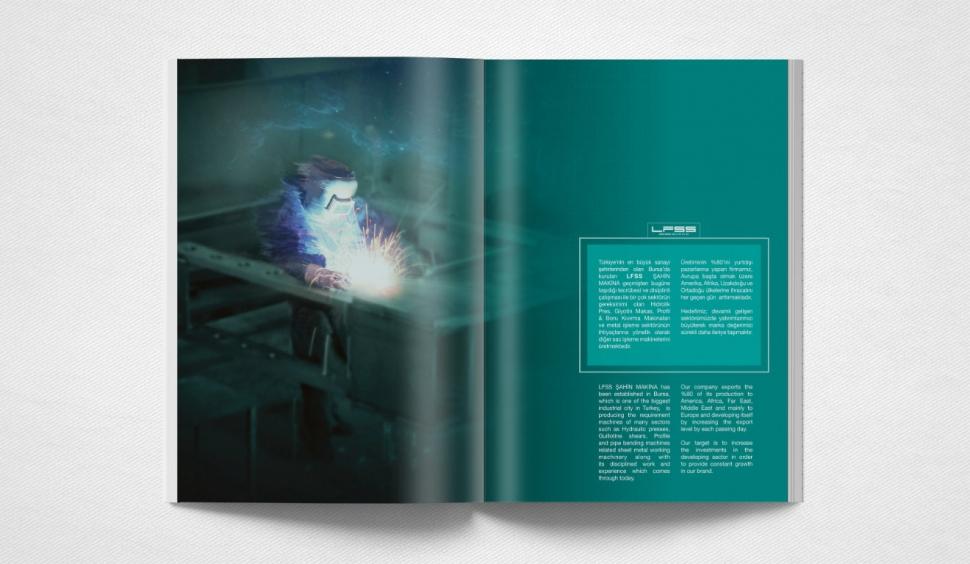 LFSS Şahin Makina Katalog Tasarımı - Grafik Tasarım