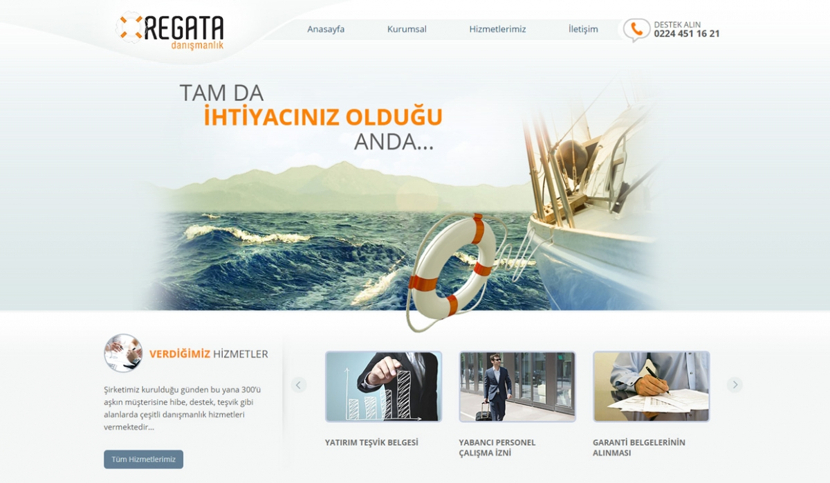 Regata Danışmanlık Static Website - Web Design