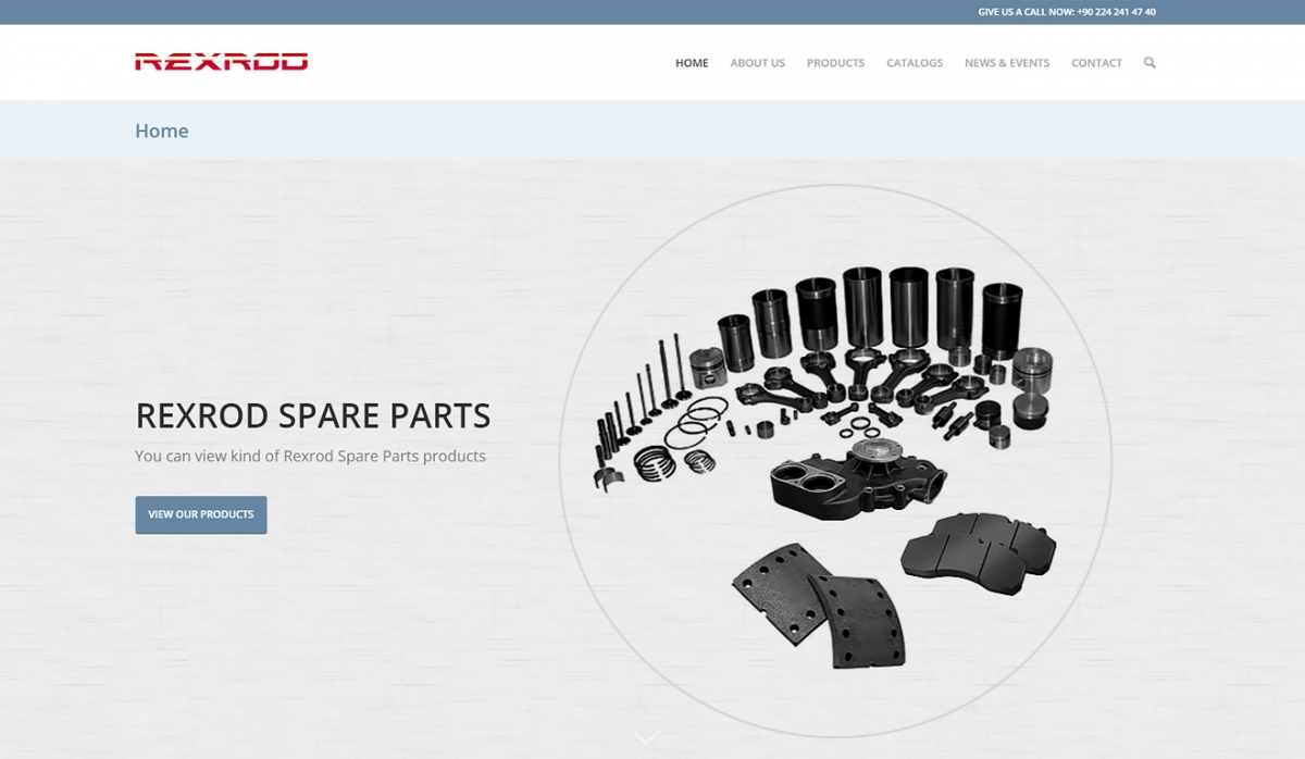 Rexrod Spare Parts Website with Control Panel - Web Design