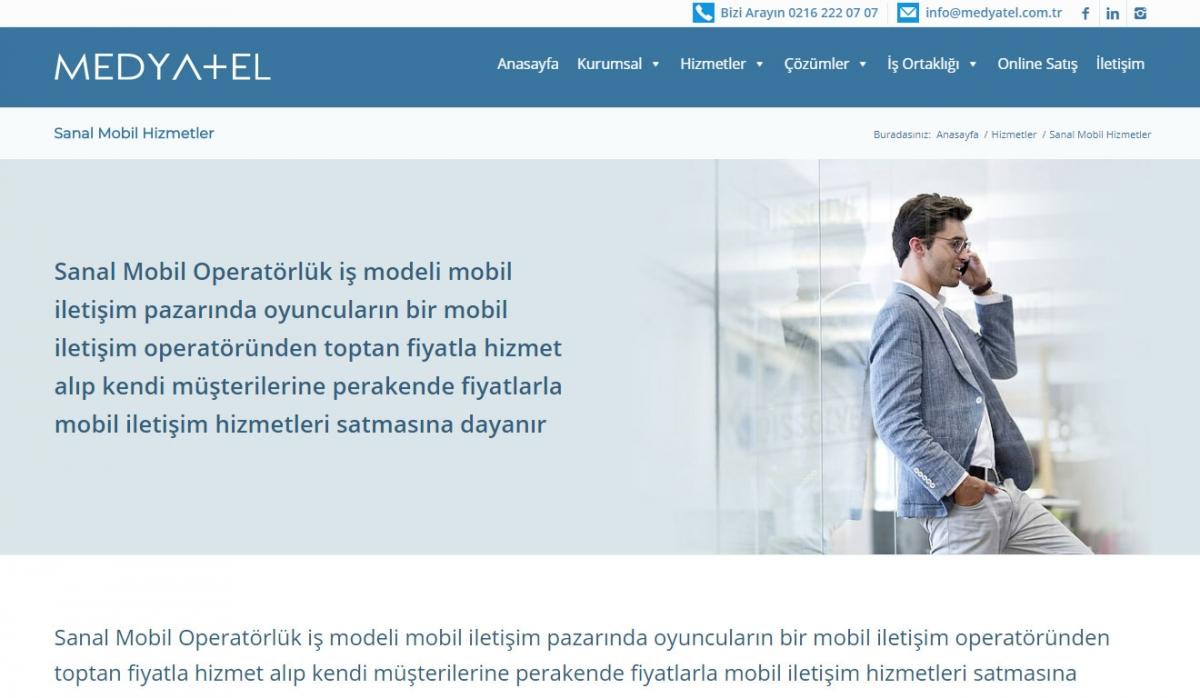 Medyatel İletişim Hizmetleri Corporate Web Site Design - Web Design