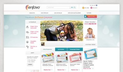 Enfavo E-Commerce Website - Web Tasarımı