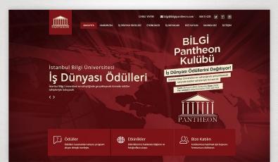 Pantheon Website with Admin Panel - Web Tasarımı