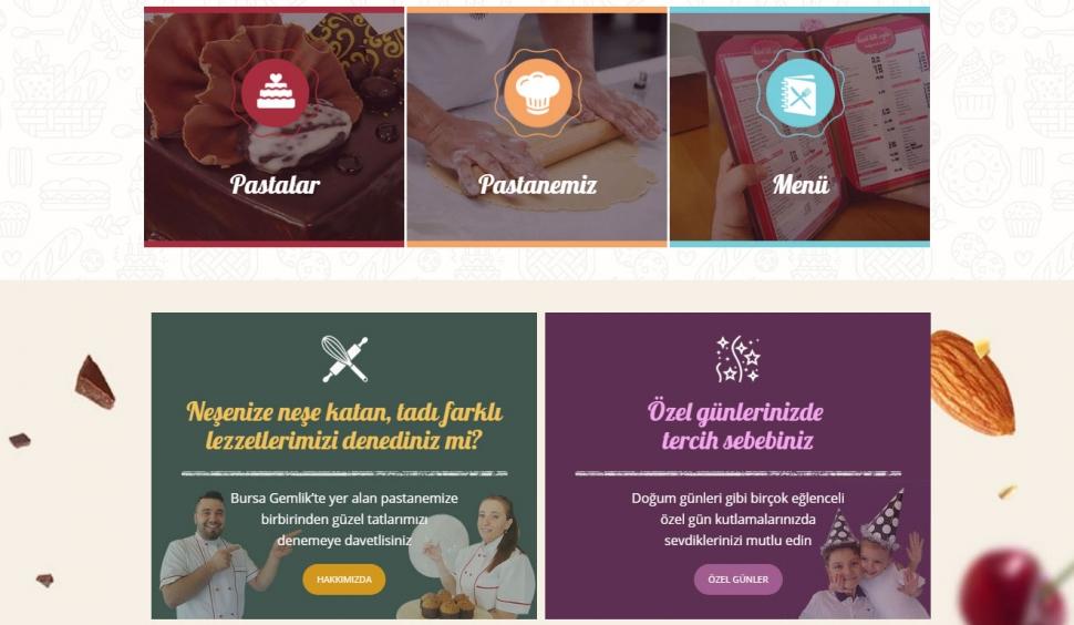 Küçük Tatlı Şeyler Kurumsal Web Sitesi - Web Tasarımı