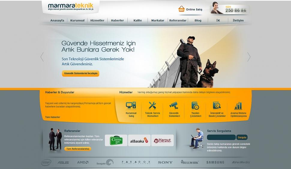 Marmara Teknik Statik Web Sitesi - Web Tasarımı
