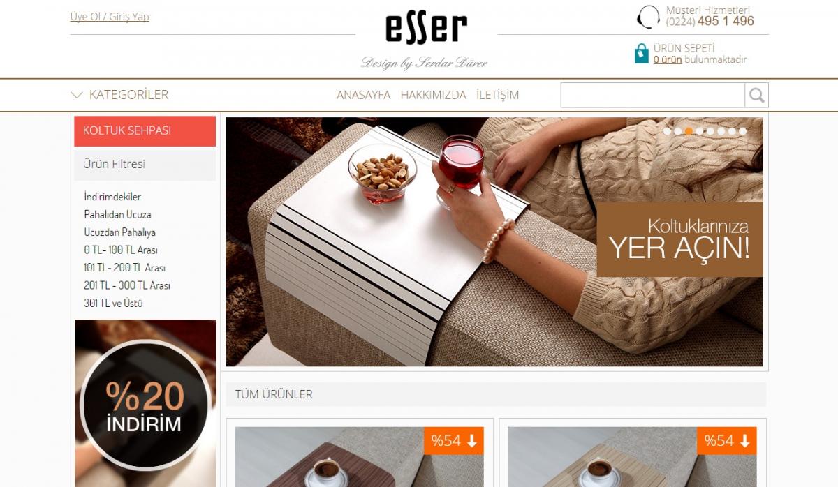 Esser Koltuk Sehpası E-Commerce Website - Web Design