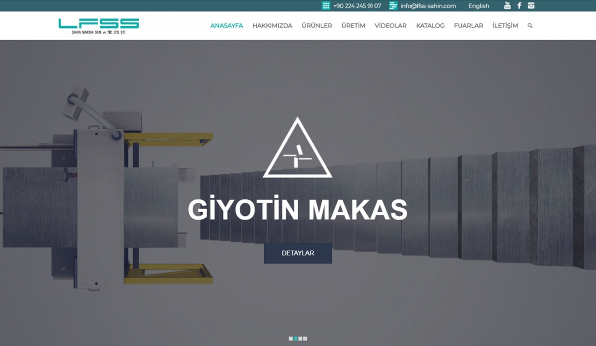 LFSS Şahin Makina Corporate Website - Web Design