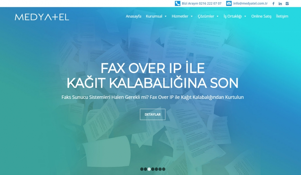 Medyatel İletişim Hizmetleri Kurumsal Web Site Tasarımı - Web Tasarımı
