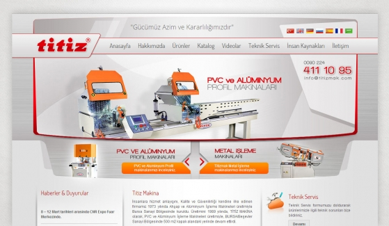 Titiz Makina Static Website - Web Design