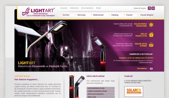 Lightart Aydınlatma Static Website - Web Design