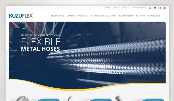 Kuzuflex Metal Hose Web Sitesi Tasarımı - Web Tasarımı