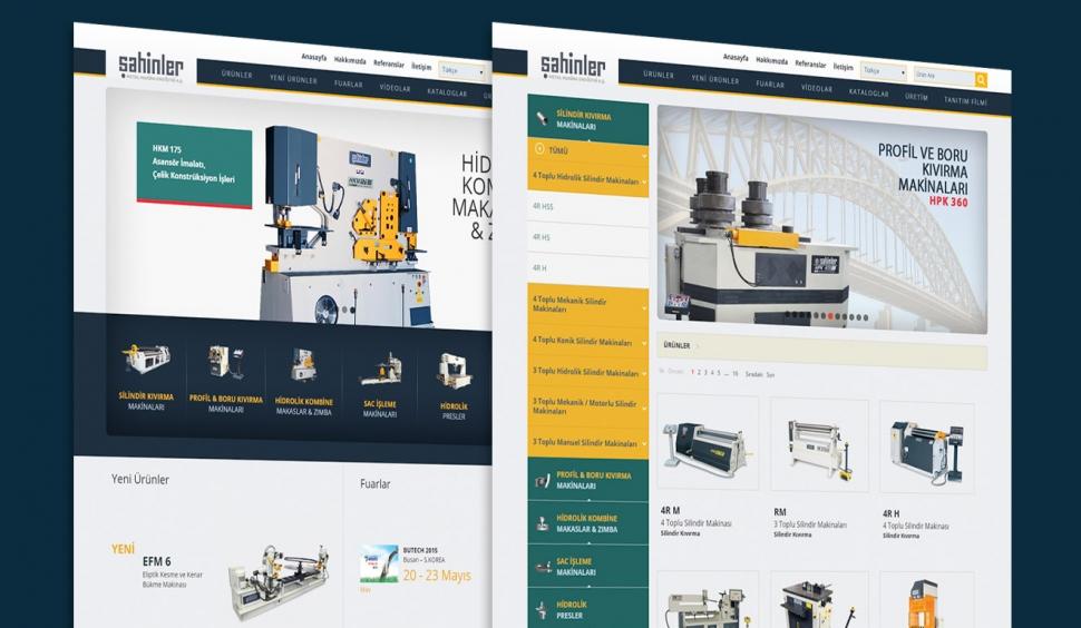 Şahinler Metal Kontrol Panelli Web Sitesi - Web Tasarımı
