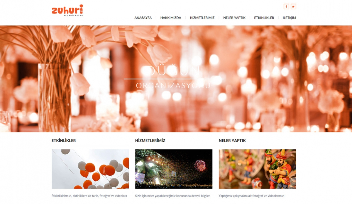 Zuhuri Organizasyon Website with Admin Panel - Web Design