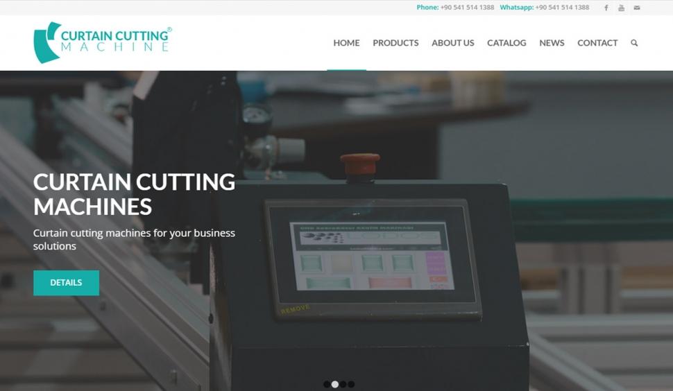 Curtain Cutting Machine Kurumsal Web Sitesi - Web Tasarımı