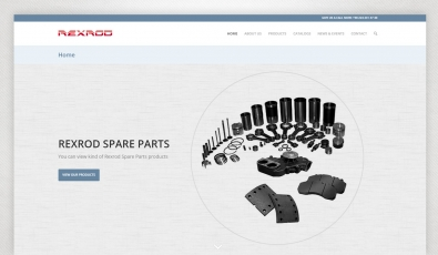 Rexrod Spare Parts Website with Control Panel - Web Tasarımı
