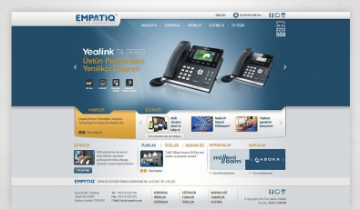 Empatiq Telekom Website With Admin Panel - Web Tasarımı