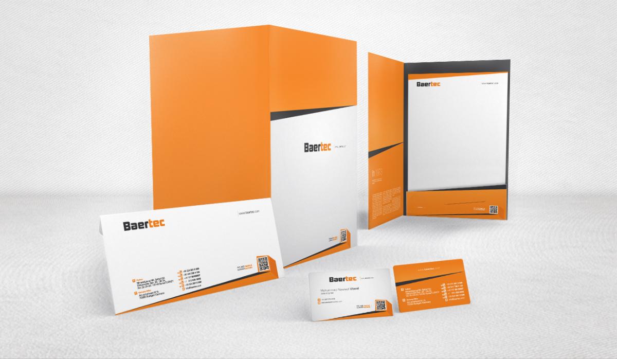 Baertec Makine Corporate Identity - Graphic Design