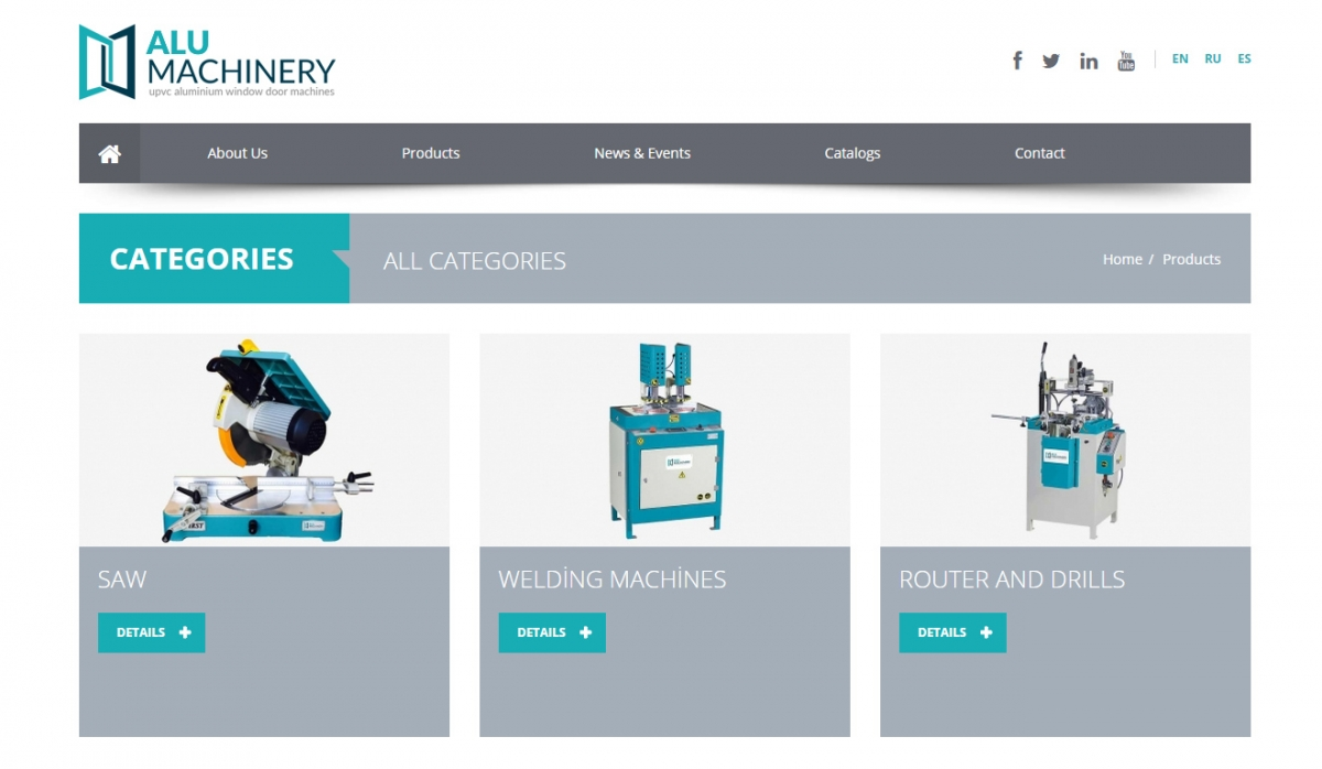 Alu Machinery Website With Admin Panel - Web Design