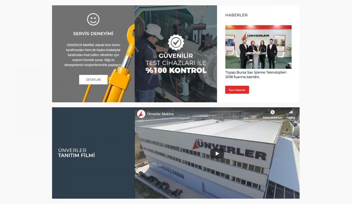 Ünverler Makina Corporate Website - Web Design
